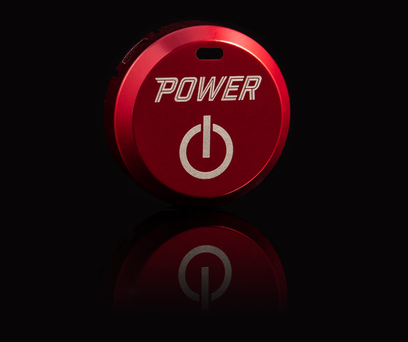 5 SPURS Fiery Red Power Button