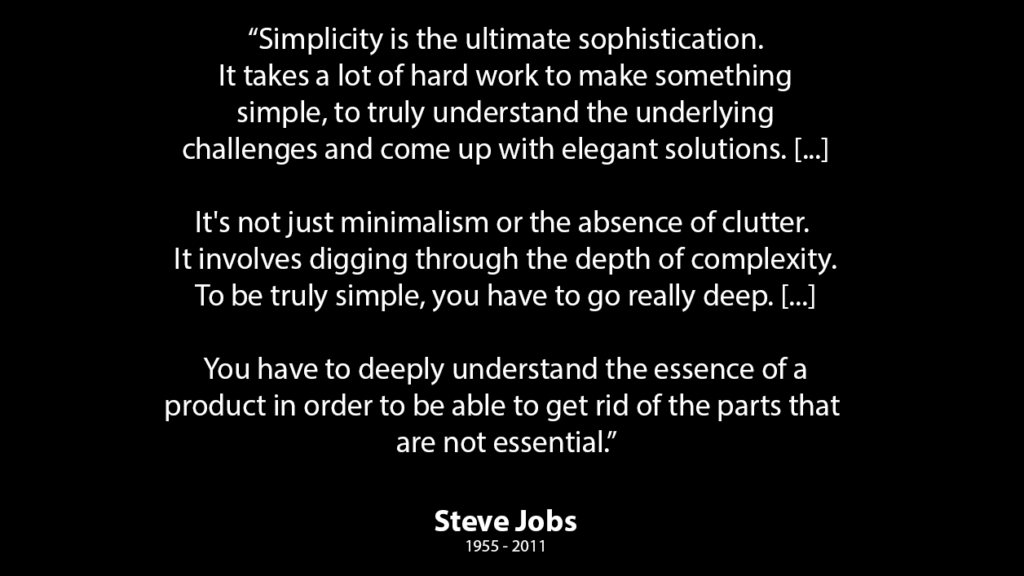 Quote on Simplicity